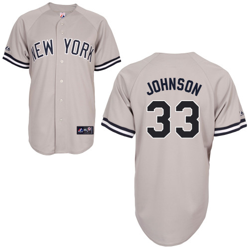 Kelly Johnson #33 MLB Jersey-New York Yankees Men's Authentic Replica Gray Road Baseball Jersey